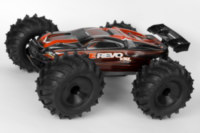 Sledgehammer tires on HPI black dish rims too big for 1/16 E-Revo.