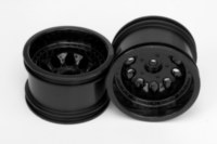 Glossy black deep offset Revolver rims from RPM.